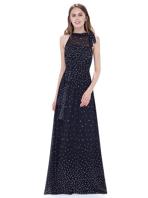 High Neck Sleeveless Long Dress