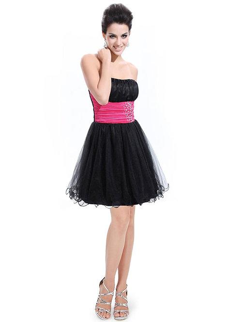 Strapless Padded Rhinestones Short Tulle Skirt