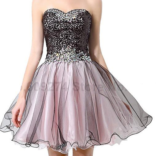 Sweetheart Sequin A Line Short Prom Dresses
