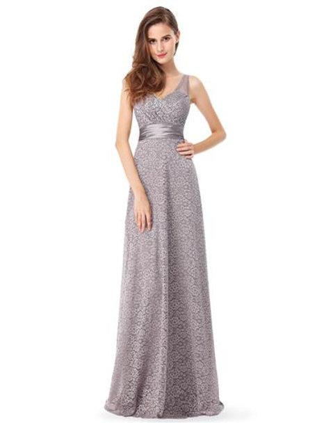 Elegant V-Neck Sleeveless Long Evening Party Dress