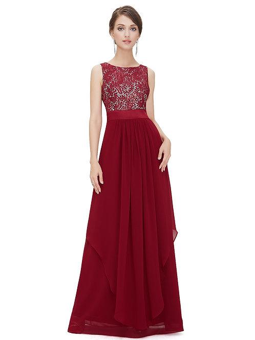 Elegant Red Sleeveless Round Neck