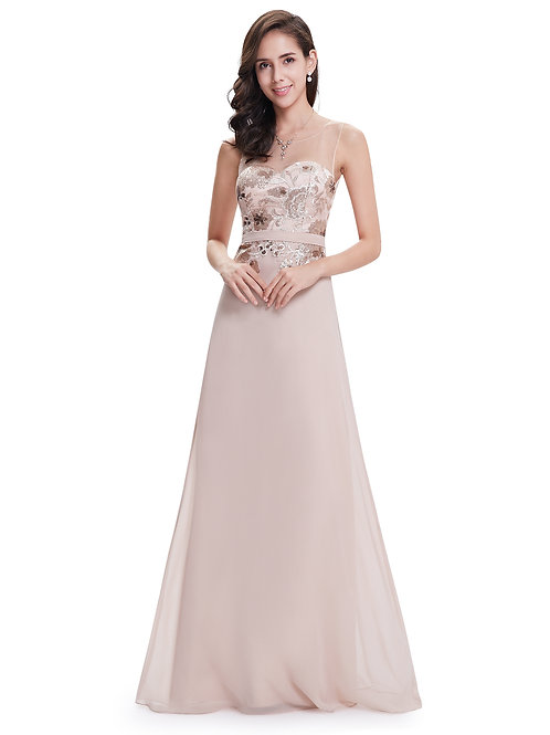 Elegant Sleeveless Long Party Evening Dress