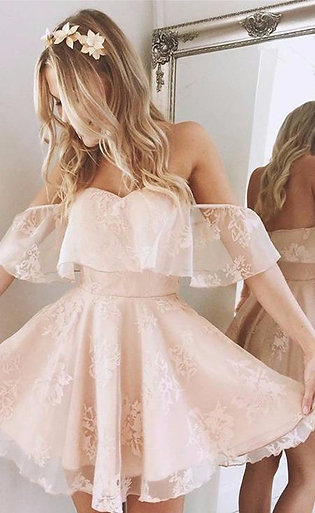 Formal Lace Dress Summer Prom Off Shoulder