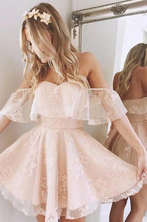 Formal Lace Dress Summer Prom Off Shoulder