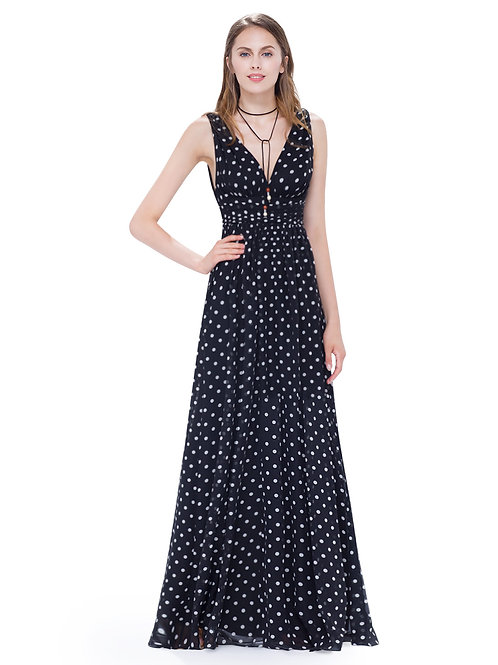 Women's V-neck Sleeveless Dress