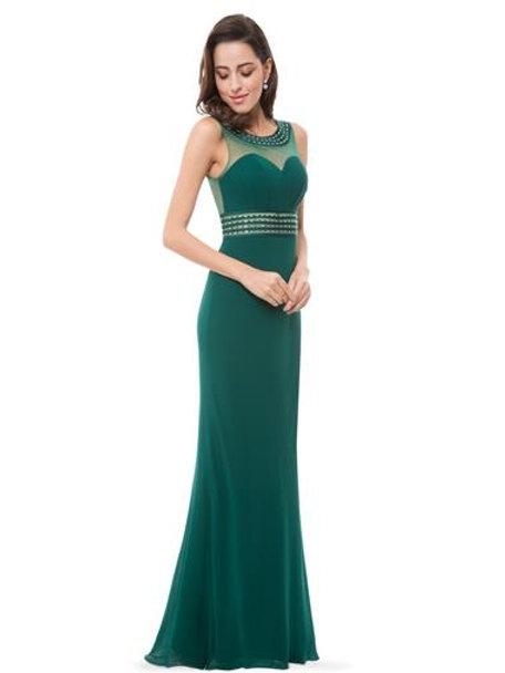 Elegant Sleeveness Long Evening Dress