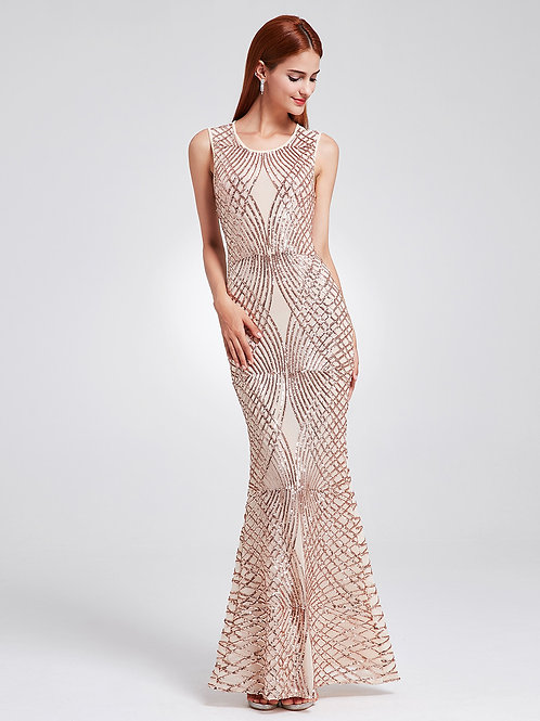 Sequins Fishtail Prom Gown