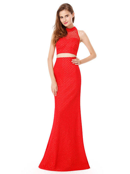 Halter Long Evening Prom Dress