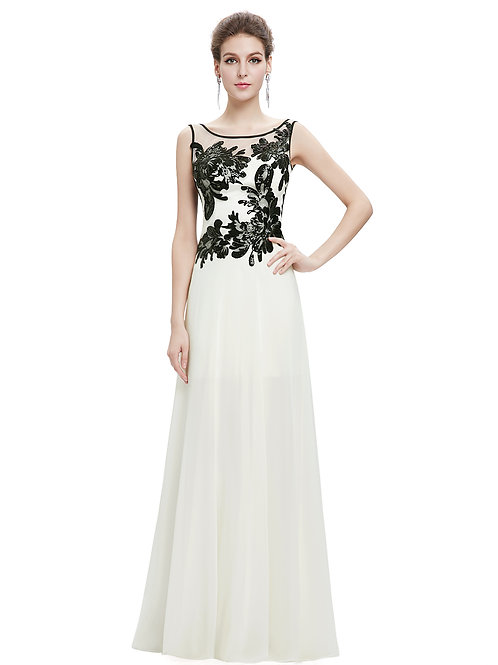 Long sleeveless Evening Prom Gown