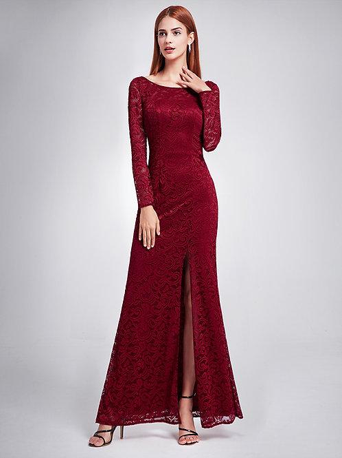 Women's Elegant Long Sleeve Evening Party Dress