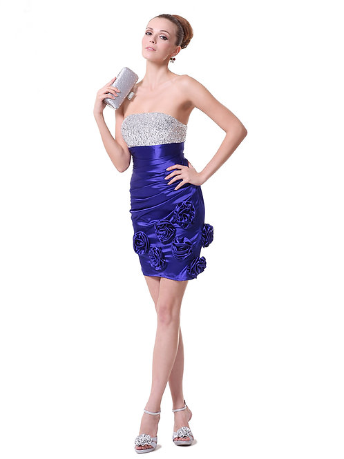 Strapless, Sequins, Satin and Flowers Rental