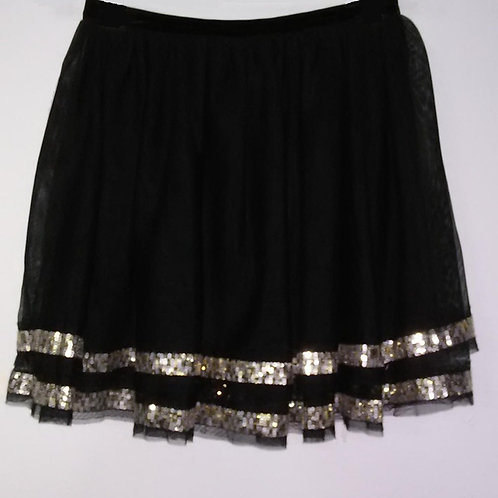 Girls Black Sequinned Skirt
