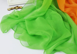 Green Orange chiffon scarve