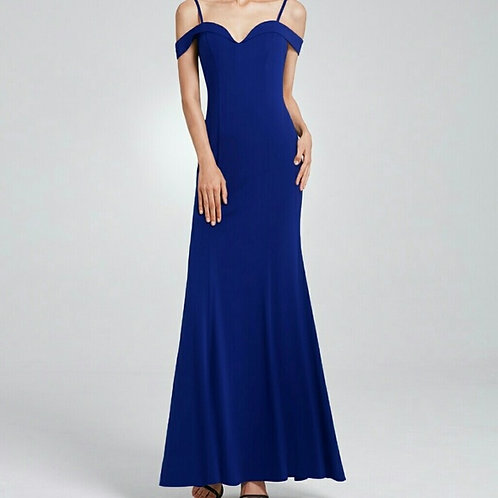 Royal Blue Off the Shoulder Pretty Woman Gown