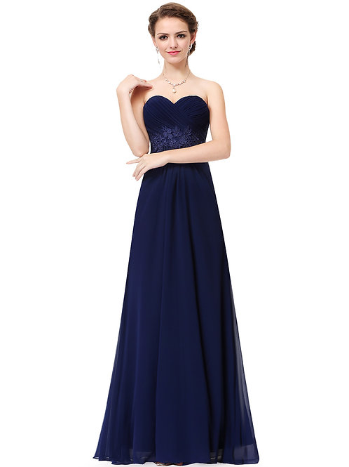 Elegant Strapless Long Evening Party Dress