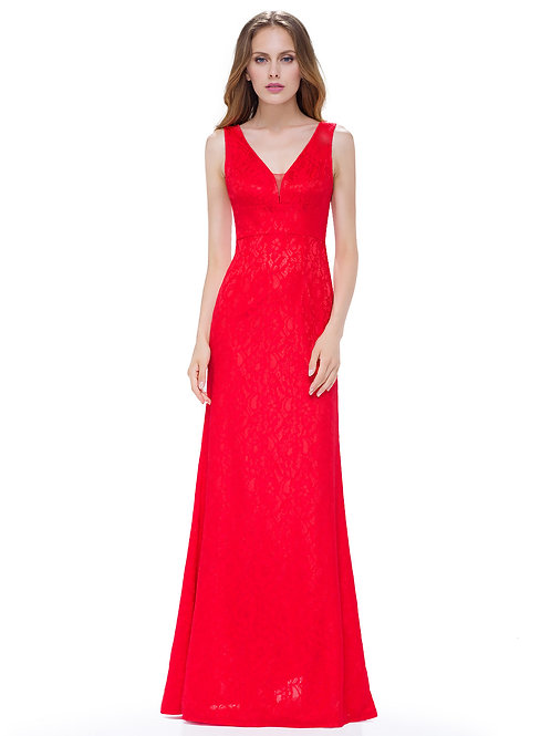 Women'S Elegant V-Neck Long Evening Party Dress