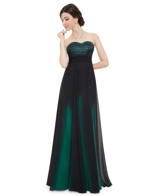 Elegant Strapless Long Evening Dress Rent