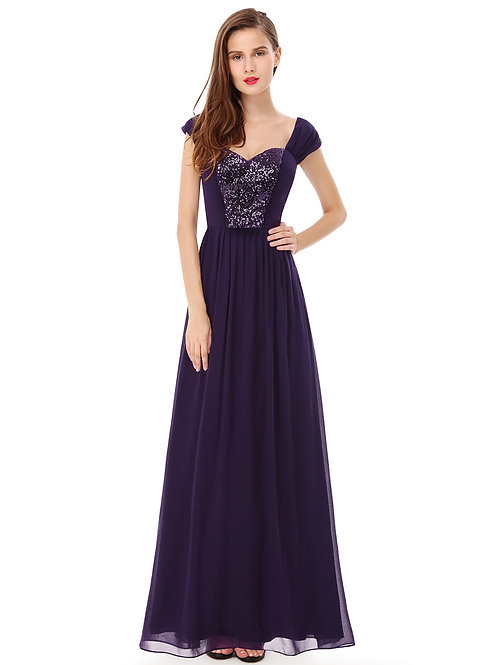 Elegant Purple Long Evening Prom