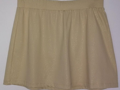 Tan with Gold Sparkled Skirt