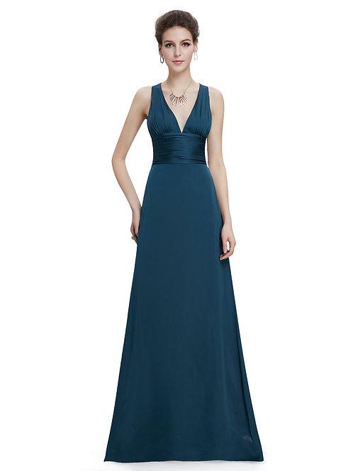 Elegant V-neck Evening Dress
