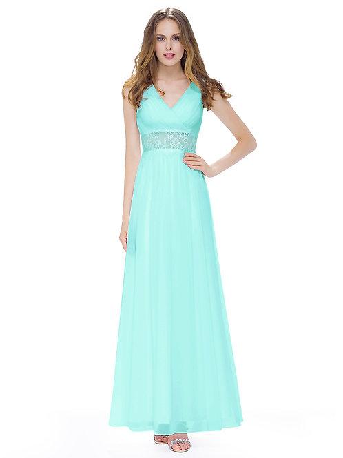 Women's Elegant Sleeveless Long Evening Dress
