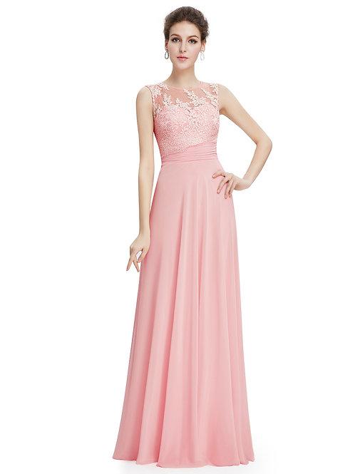 Elegant Sleeveness Long Evening Party Dress