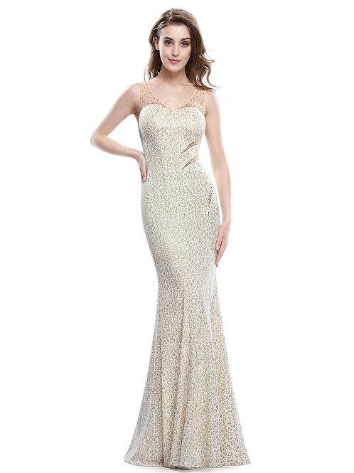 Elegant Sleeveless Long Evening Gown