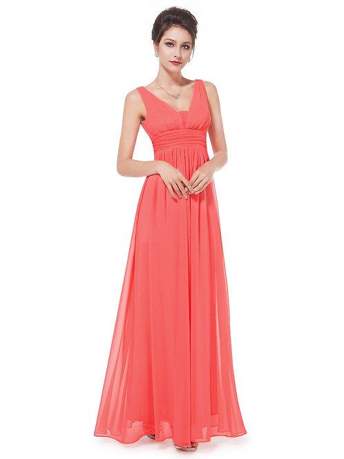 Elegant Deep V-neck Maxi Dress