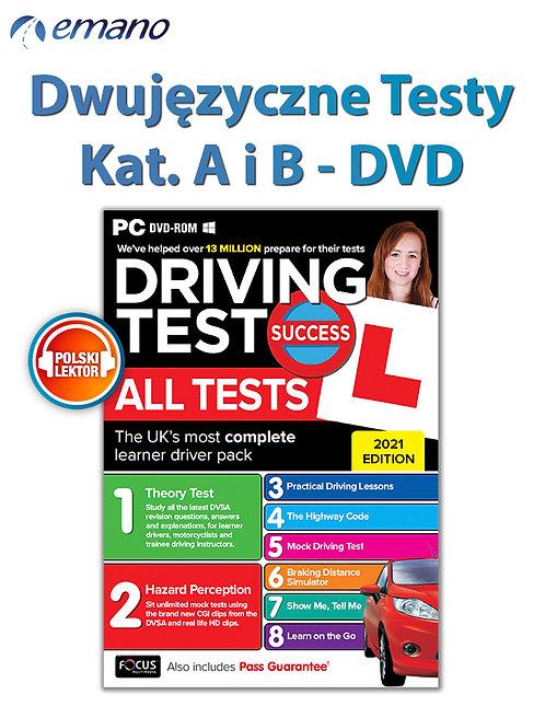 Testy na prawo jazdy w UK Kat.B i A GB/PL wersja do wyboru