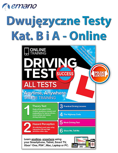 Testy Online na prawo jazdy w UK Kat.B i A GB/PL