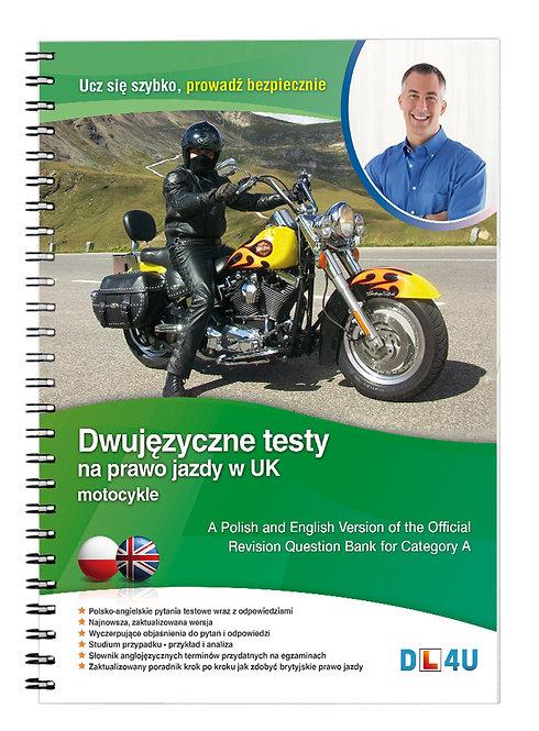 Kat. A - Dwujęzyczne testy na prawo jazdy w UK na motocykle