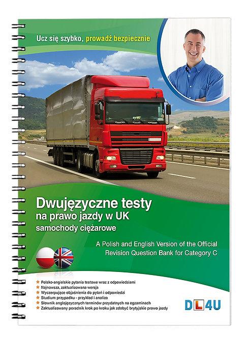 Kat. C - Dwujęzyczne testy na prawo jazdy w UK na samochody ciężarowe