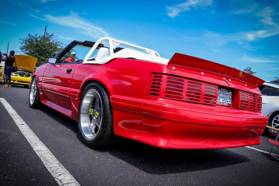 79 93 Mustang Coupe Convertible Ducktail Spoiler Beadless Version