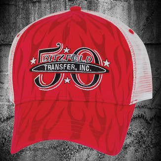 RED PHANTOM FLAMES TRUCKER