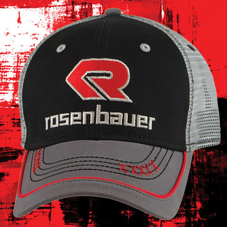 TRUCKER WITH SINGLE PIPING ON VISOR