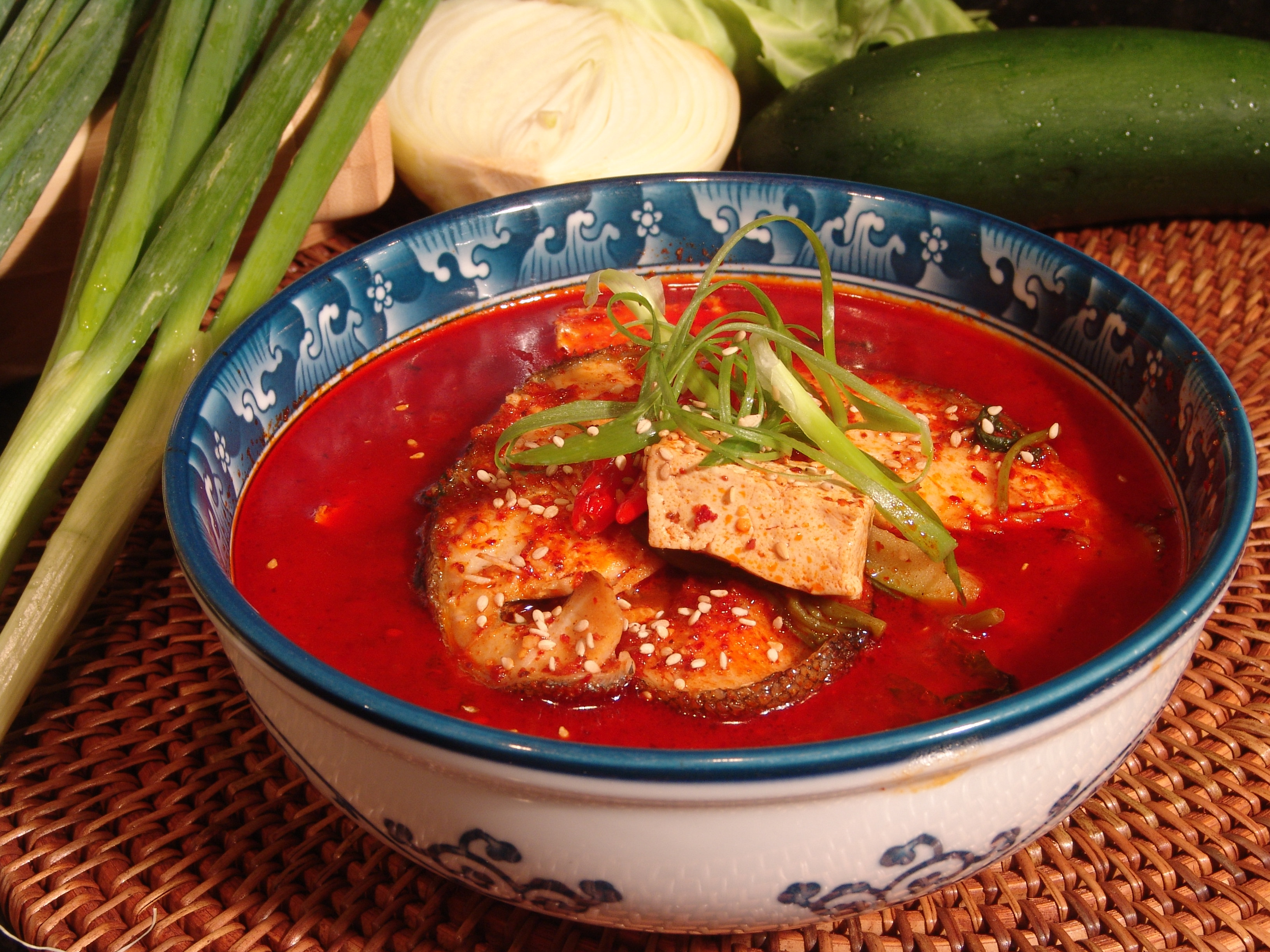 spicy butterfidh soup