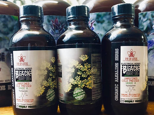 BLACK SEED OIL (with Phytonutrients and Cellular Walls Undamaged)