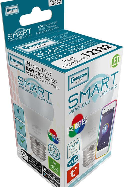 Crompton 8.5w ES Smart LED GLS RGB & 3K