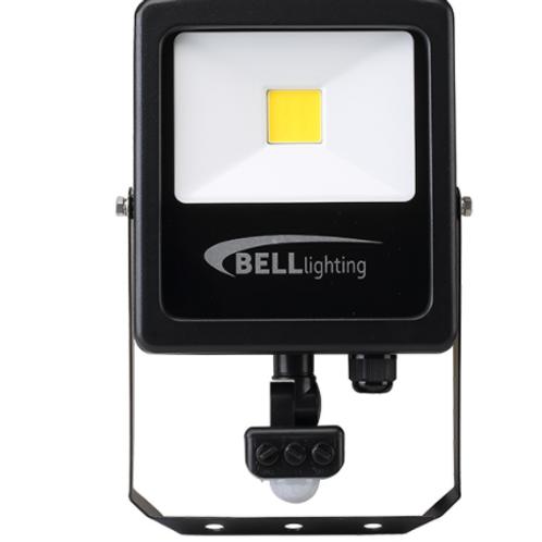 Bell Lighting 10927 30W SKYLINE SLIM LED FLOODLIGHT - 4000K, PIR