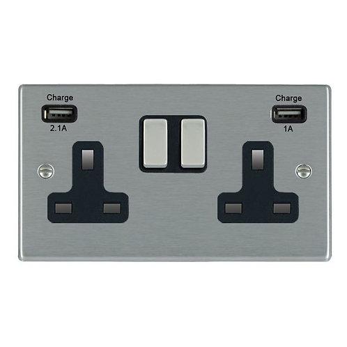 Hamilton Hartland 2 Gang USB Socket