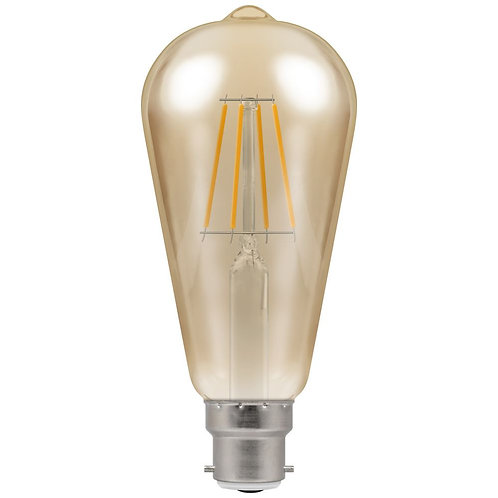 Crompton LED ST64 Filament Antique  Dimmable  5W  2200K  BC-B22d