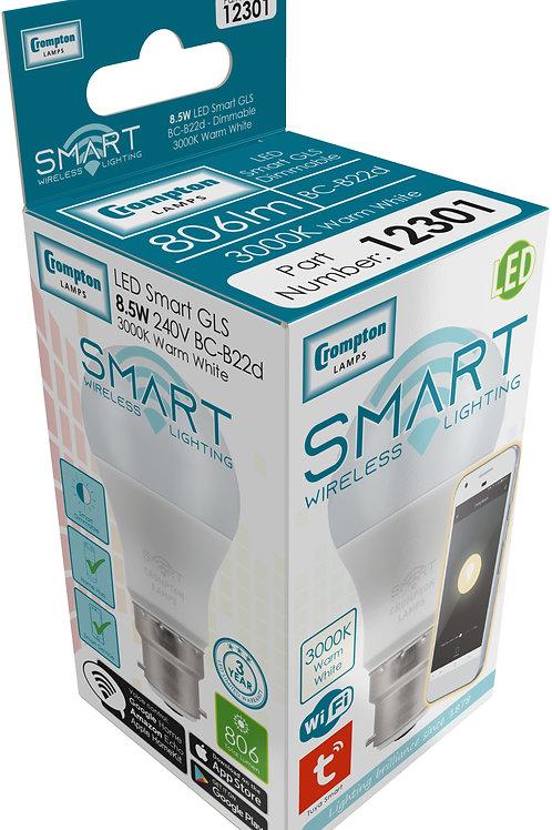 Crompton 8.5w BC GLS Smart LED 3K