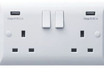 Hamilton Vogue VWPSS2USBX2W 2 Gang USB Socket
