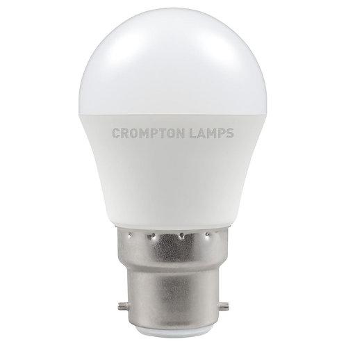 Crompton LED Round Thermal Plastic 5.5W 2700K BC-B22d