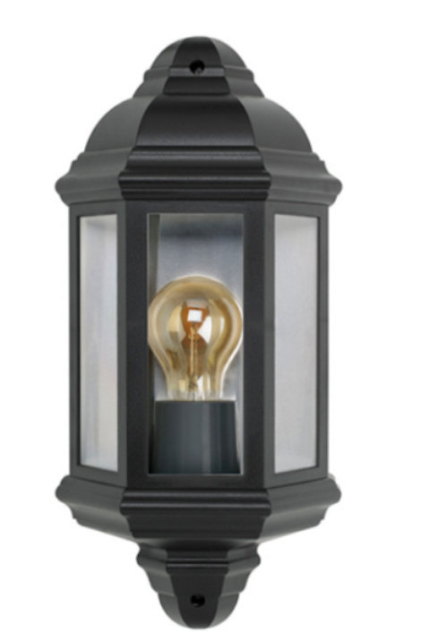 Bell Lighting 10360 Black Half Lantern