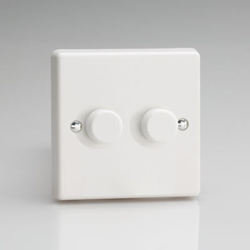 Varilight LED 2 Gang Dimmer White