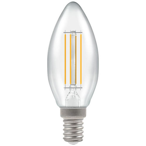 Crompton LED Candle Filament Clear Dimmable 5W 2700K SES-E14