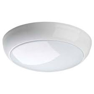 15w Round White Opal IP65 Emergency Bulkhead