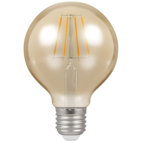 Crompton LED Globe G95 Filament Antique Dimmable 5W 2200K ES-E27