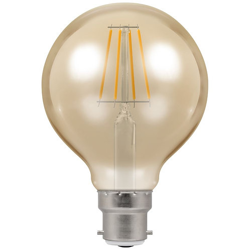 Crompton LED Globe G95 Filament Antique Dimmable 5W 2200K BC-B22d